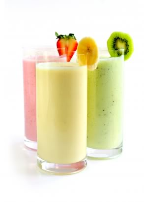 Fruit, Yogurt, and Coconut Water Smoothies