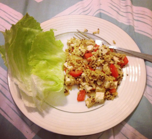 tofu stir fry and lettuce wraps recipe