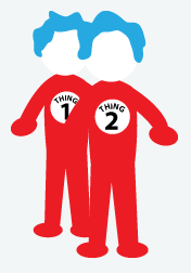Thing 1 Thing 2 Costume, Halloween Costumes